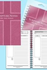 Notebook-Scripture Notes Bible Study-Cross-Rose