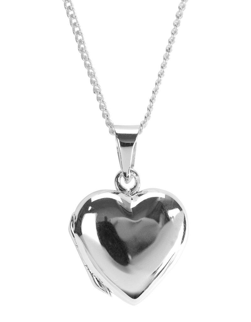 """Necklace 18"""" Happy Birthday Heart Locket"""