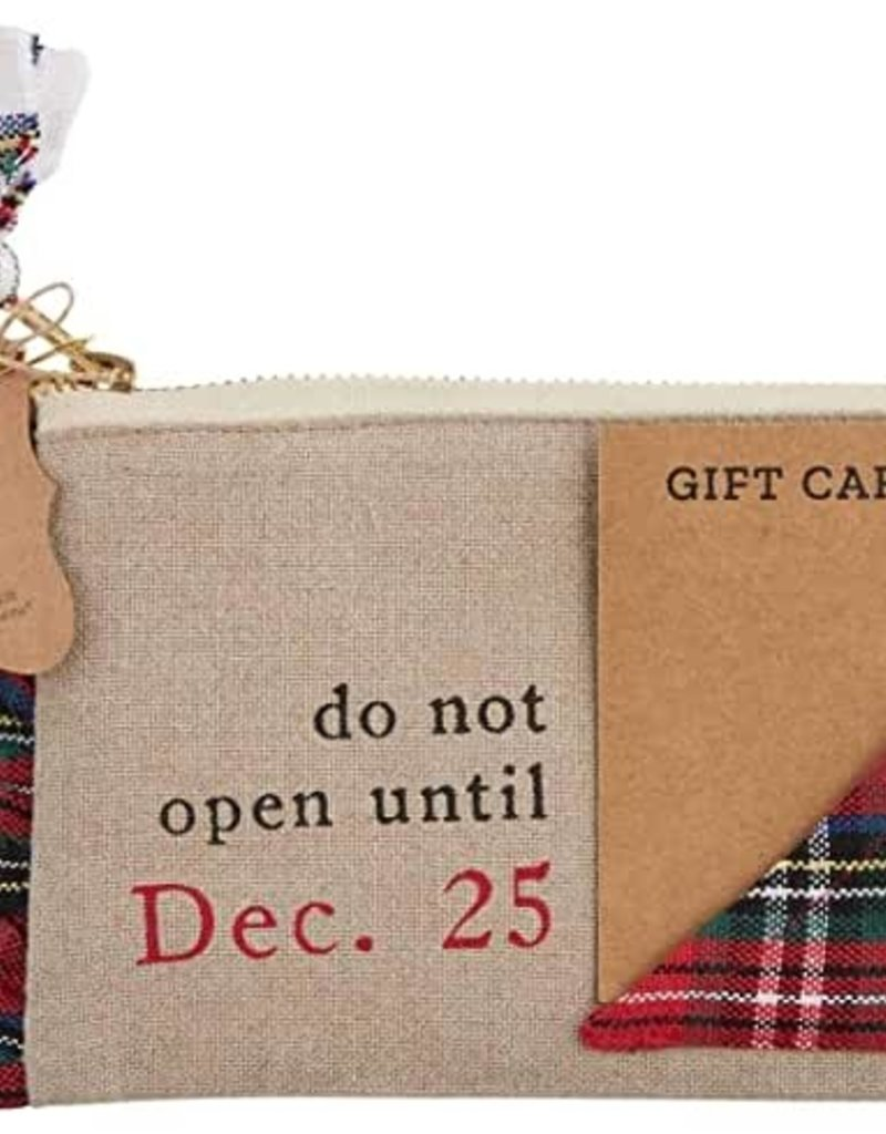 Do Not Tartan Gift Pouch