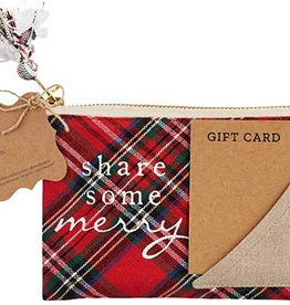 Share Tartan Gift Pouch