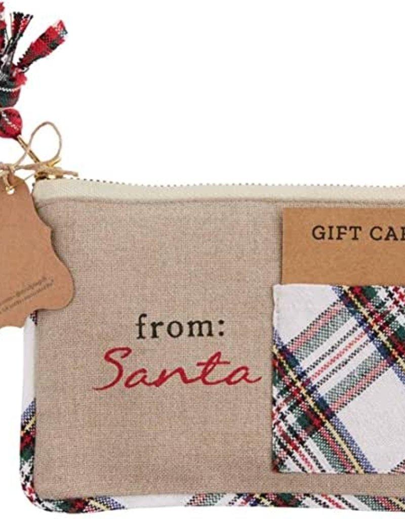 From Santa Tartan Gift Pouch
