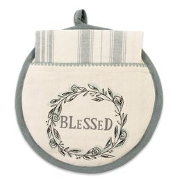 Blessed Hot Pad/ Tea Towel Set