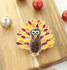 Enamel Turkey Pin/Pendant