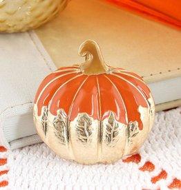 Gold Dipped Pumpkin Pin/Pendant