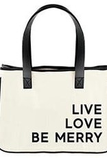 Mini Holiday Canvas Tote - Live Love Merry