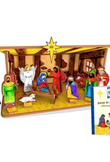 Away in a Manger Children's Nativity Book and Playset