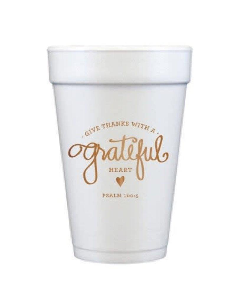 Foam Cups - Grateful Heart (set of 12cups)