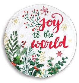 Joy to the World Melamine Serveware Large Round Platter