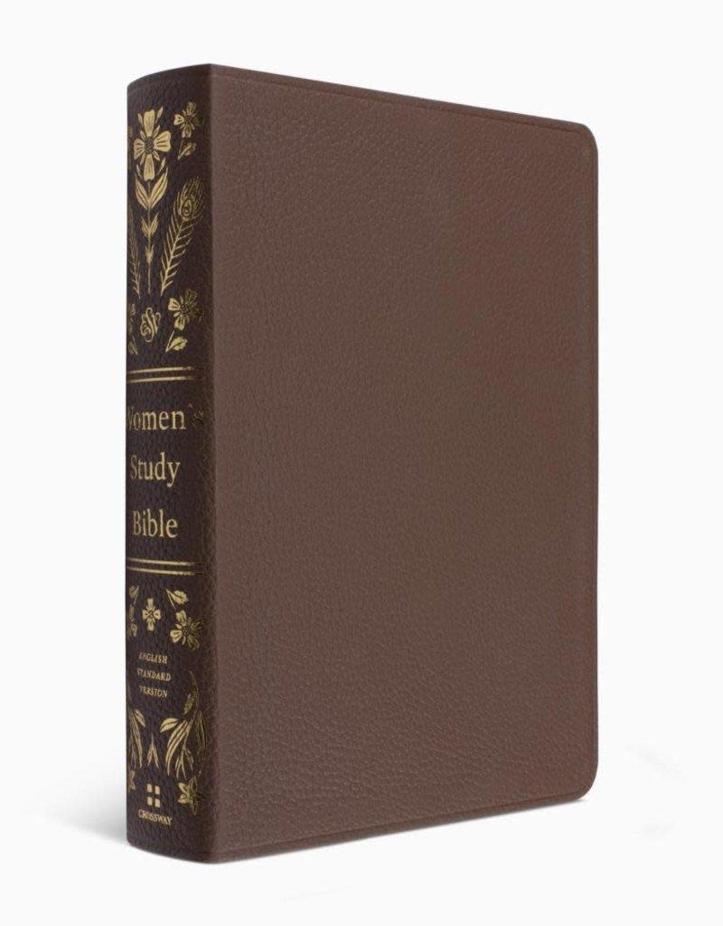 ESV Women's Study Bible Genuine Leather, British Tan