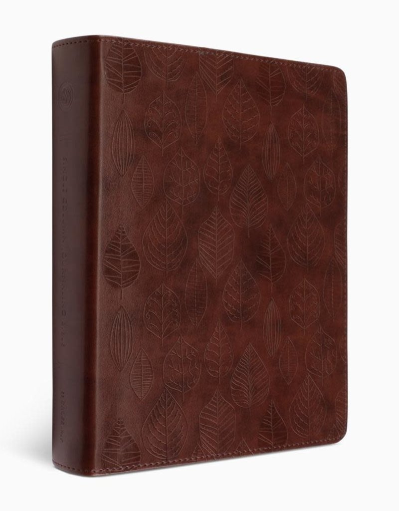 ESV Single Column Journaling Bible-Chestnut Leaves Design TruTone