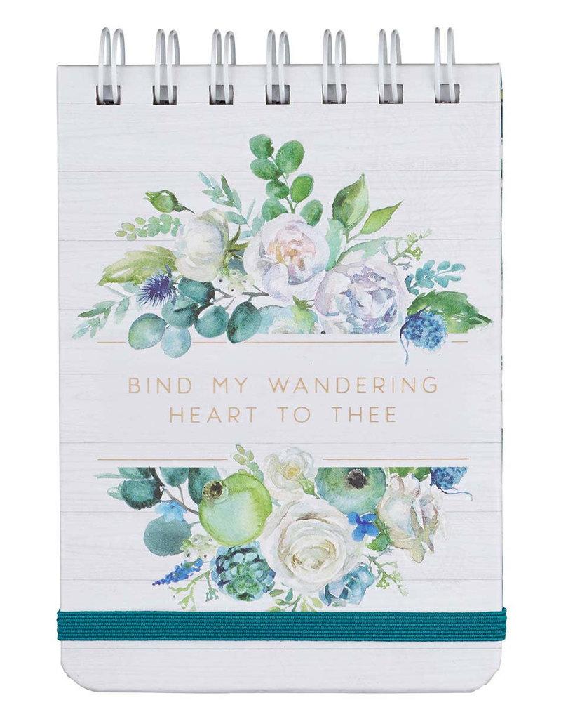 Bind My Wandering Heart Wirebound Notepad