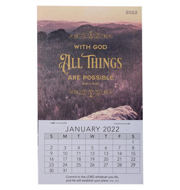 2022 All Things Are Possible Mini Magnetic Calendar