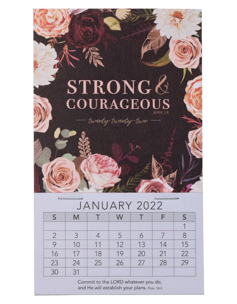 2022 Strong & Courageous Mini Magnetic Calendar - Joshua 1:9