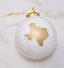 Texas Glass Ornament