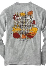 Womens Long Sleeve T-Shirt Give Thanks The Lord