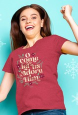 Womens Christmas T-Shirt O Come All Ye Faithful