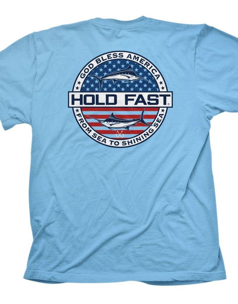 HOLD FAST Mens T-Shirt God Bless America