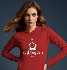 Womens Hooded T-Shirt Best Day Ever