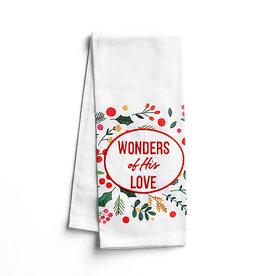 Wonders of His Love Tea Towel