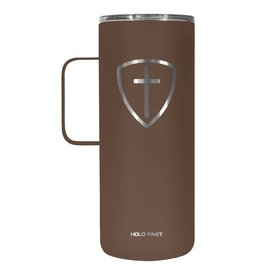 Cross Shield 22 oz Stainless Steel Tumbler With Handle