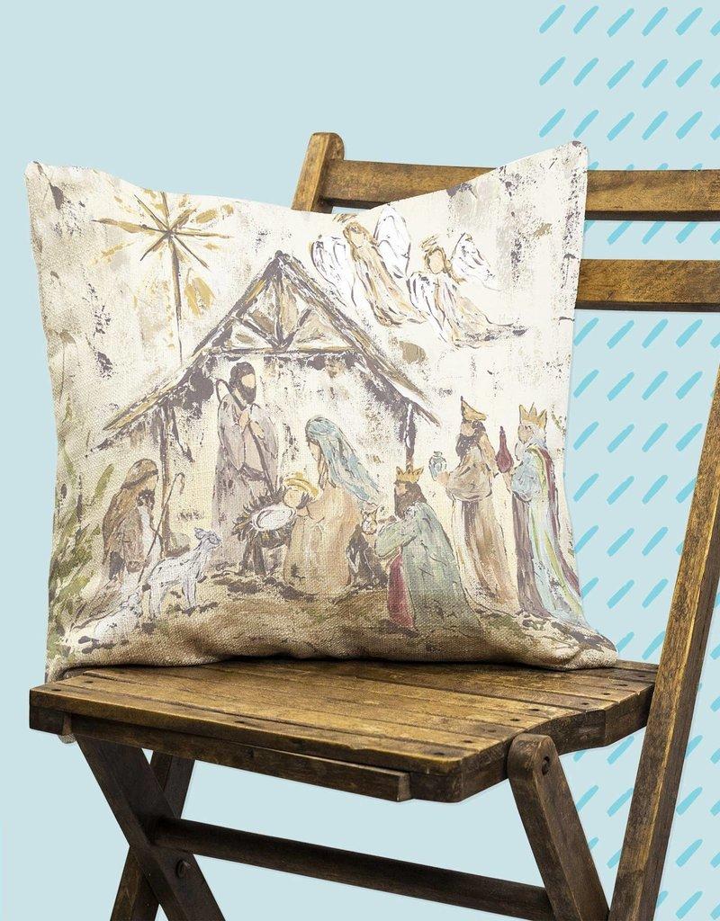 """Star Nativity Pillow 18""""x18"""""""