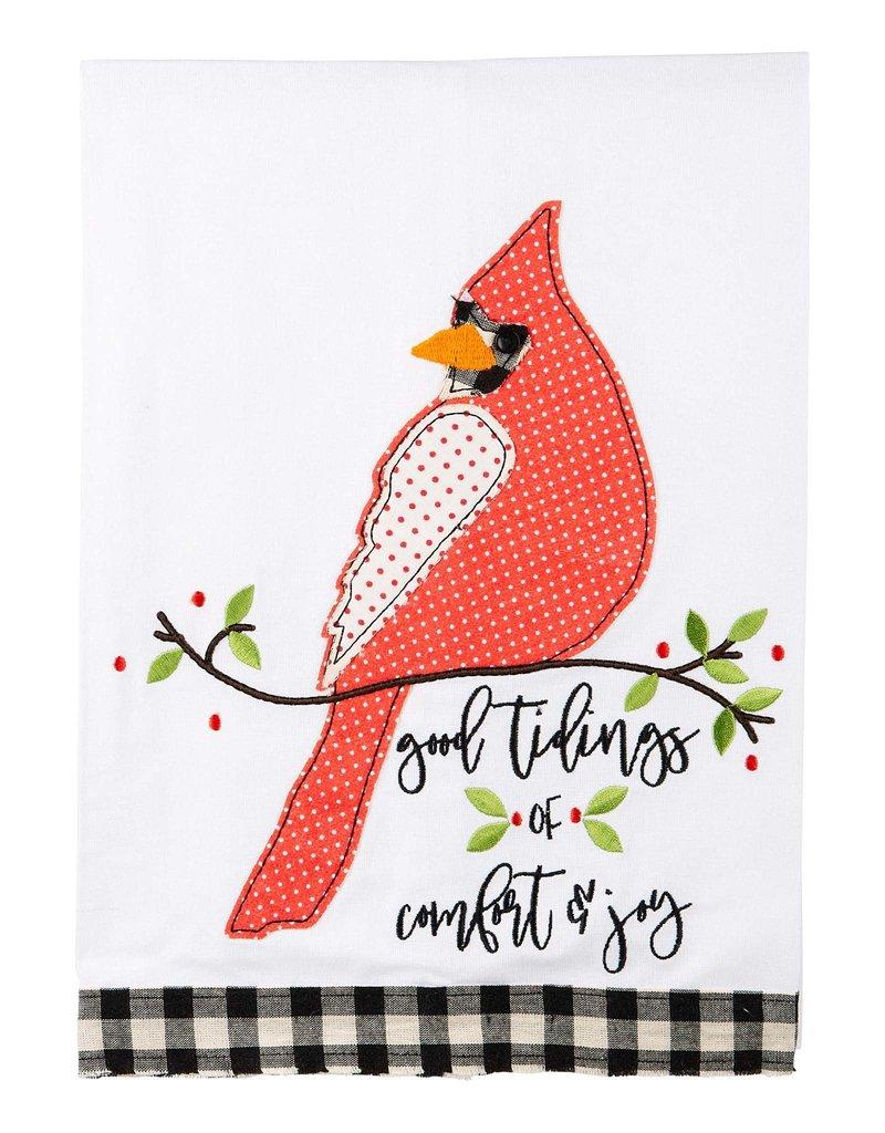 Good Tidings Red Bird  Tea Towel