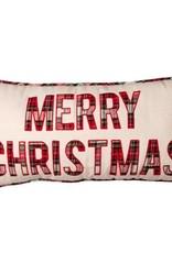 MERRY CHRISTMAS PLAID PILLOW
