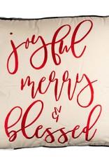 Joyful Merry Blessed Pillow