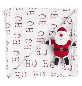 Santa Swaddle Set w/ Rattle
