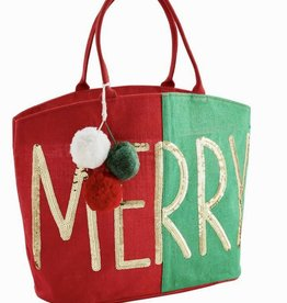 Merry Christmas Dazzle Tote