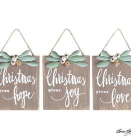 CHRISTMAS GIVES ORNAMENT
