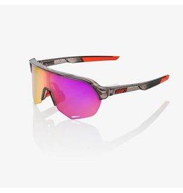 100% 100% S2 Polished Translucent Crystal Smoke/Purple Multilayer Mirror