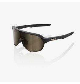 100% 100% S2 Matte Black Flash Gold Lens