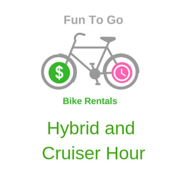 Bike Rental Hybrid and Cruiser Hour