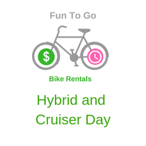 Bike Rental Hybrid and Cruiser Day