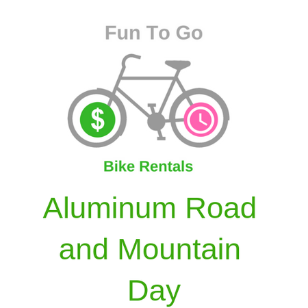 Bike Rental Aluminum Road and Mountain Day
