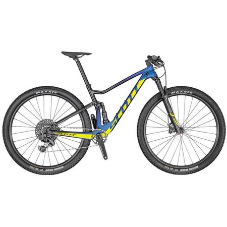SCOTT Scott Spark RC 900 Team Issue Axs Mountain Bike Blue/Yellow Medium