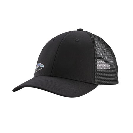 PATAGONIA Patagonia Small Fitz Roy Fish LoPro Trucker Hat Black w/Smallmouth One Size