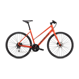 SPECIALIZED Specialized Sirrus 2.0 Step Through Gloss Vivid Coral / Summer Blue / Satin Black Reflective X-Small