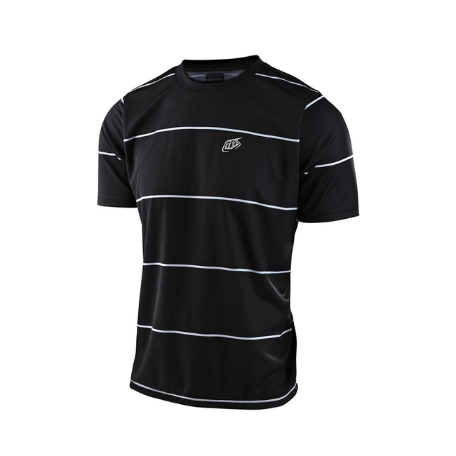 Troy Lee Designs Flowline SS Jersey Stacked Black Large