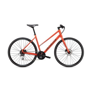 SPECIALIZED Specialized Sirrus 2.0 Step Through Gloss Vivid Coral / Summer Blue / Satin Black Reflective Small
