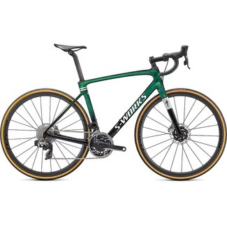 SPECIALIZED Specialized S-Works Roubaix – SRAM Red eTAP AXS  Gloss Green Tint/Spectraflair/Satin Flake Silver 54