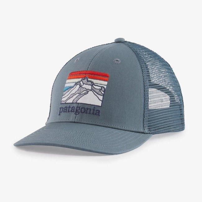 PATAGONIA Line Logo Ridge LoPro Trucker Hat Plume Grey One Size