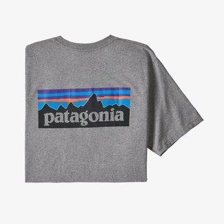PATAGONIA Patagonia P-6 Logo Responsibili-Tee Gravel Heather Large