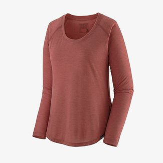PATAGONIA Patagonia Long-Sleeved Capilene Cool Trail Shirt Women's Rosehip Small