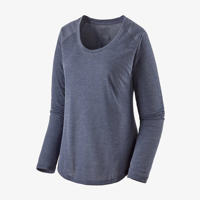 PATAGONIA Long-Sleeved Capilene Cool Trail Shirt Women's Classic Navy Large