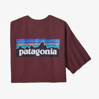 PATAGONIA Patagonia P-6 Logo Responsibili-Tee Men's Dark Ruby Large