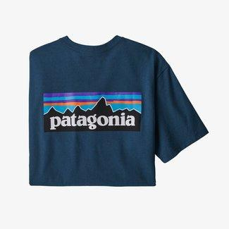 PATAGONIA Patagonia P-6 Logo Responsibili-Tee Crater Blue Large