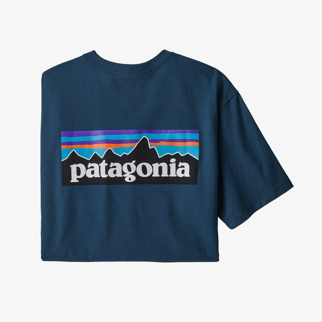 PATAGONIA P-6 Logo Responsibili-Tee Crater Blue Large