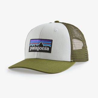 PATAGONIA Patagonia P-6 Logo LoPro Trucker Hat White/Palo Green One Size